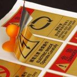 Logotipo de oro cepillado de impresión adhesivo adhesivo adhesivo personalizado personalizado