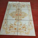 Telha Water-Jet de mármore artificial do projeto com as telhas de assoalho do teste padrão de flor (FSD24042)