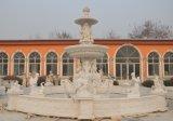 precio de fábrica de delfines tallados en piedra natural Fuente de mármol (SY-F077)