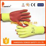Ddsafety 2017 10 Anzeigeinstrument gestrickter Latex-Sicherheits-Handschuh