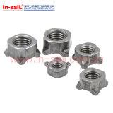 Noix Nuts de meubles d'acier du carbone de soudure du quadrilatère DIN928