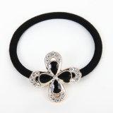 Accessorio elastico nero dell'ornamento dei capelli per le donne