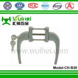 Aluminiumlegierung-Quadrat-Welle-Griff für Fenster und Tür mit Versicherungs-Taste (CH-B20)