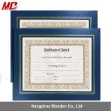 8.5 X 11 A4 de Klassieke Certificaten In reliëf gemaakte Houder van het Document met pvc