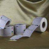 O papel adesivo feito sob encomenda imprimiu a etiqueta da etiqueta
