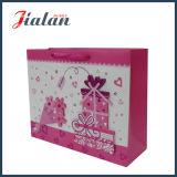 Personnaliser le sac de papier du coeur 3D de Valentine du jour de cadeau rouge d'achats