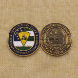 Custom Metal Silver Metro Card Coin Nypd Challenge Coin