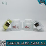 50ml Frosted Cosmetic Glass Jar Vazio Face Cream Glass Jars