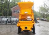 Capienza della tramoggia di fabbricazione 800L della puleggia per il villaggio, strada, pompa per calcestruzzo del rimorchio della costruzione del traforo del ponticello con il miscelatore da vendere in L'India (JBT40-L)