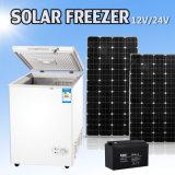 congelador 12/24V vertical solar com o compressor elevado da C.C.