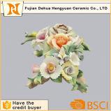 人工花のローズのハンドメイドの磁器の花