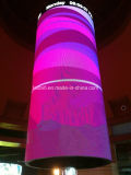 Cores exteriores Display LED redondos 360 graus P7.62