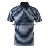 자신의 작풍에 있는 폴로 스포츠 t-셔츠 디자인은, 100%년 면 털실 염색한 남자 짧게 폴로 셔츠 기지개하 면 t-셔츠를 소매를 단다