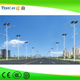 40W imprägniern integriertes hohes Lumen IP65 LED-Straßen-Solarstraßenlaterne