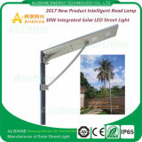 2017 Nouveau produit Intelligent Lamp Integrated Solar LED Street Road Light