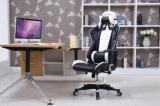 Entrenamiento del juego de la oficina del escritorio que compite con la silla de la protuberancia con alto blanco del respaldo
