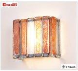 現代ブラシセリウムの承認の赤いガラスLEDの壁ランプ