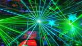luz laser de la animación a todo color de 6W RGB