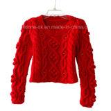 Kundenspezifischer neuer Entwurf stricken Strickjacke-Wolljacke-Pullover-Kleid-Strickwaren mit der Hand