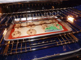 Non couvre-tapis facile de traitement au four de silicones de nettoyage d'anti glissade de bâton