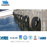 Defensa de goma marina cilíndrica del muelle con varia talla