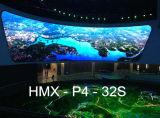 Indicador de diodo emissor de luz interno elevado da cor cheia da definição P4 (256*256mm)