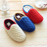 Estilo mais moderno Mute Mulheres Homens Knit Couple Indoor Home Chinelos