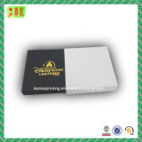Boîte en papier de carré de papier de fantaisie avec timbre en or pour cadeau