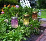 Indicatore luminoso solare del vaso di muratore della lucciola con lo sfarfallamento per la decorazione