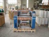 Semi-automático de estiramiento de película de corte longitudinal y rebobinado de la máquina