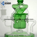 Green Recycler Smoking Water Pipe Glassware pour le tabac (BY004)