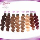 Prolonge péruvienne de bonne qualité de cheveu d'onde de corps de la couleur 27# Remy