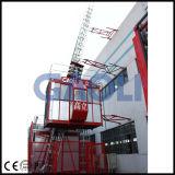 Gaoli Scq100 / 100 dupla gaiola Lean construção Hoist
