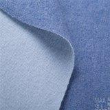 Double coton de laine et tissus d'acétate de cellulose en bleu