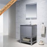 連邦機関1207の二重流しの浴室の虚栄心の灰色の仕上げの浴室用キャビネット