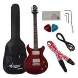 Guitarra elétrica de Aiersi com peças da guitarra