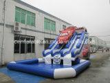 Aufblasbares Wasser-Plättchen mit Pool