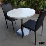 Pierre acrylique de marbre blanc, petite table à manger