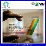 Carte transparente de PVC de taille par la carte de crédit normale
