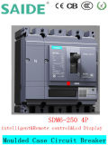 4p baja tensión moldeado caso disyuntor MCCB pantalla LCD