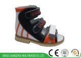 Сандалия кожаный сандалии детей высокая Orthotic с сандалией поддержки стабилности задний