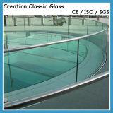 Vidrio Tempered doblado para la pared de cortina/el vidrio de cristal del edificio