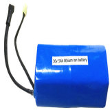 paquete recargable de la batería del Li-ion del litio de 36V 5000mAh 5A 18650