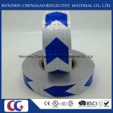 결정 격자를 가진 파란과 백색 화살 PVC 사려깊은 테이프