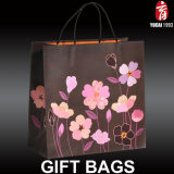 Серия цветка 2017 нов конструированных бумажных хозяйственных сумок