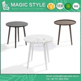 Table ronde en aluminium Table ronde à l'extérieur (style magique) Table d'appoint de jardin Table de club de café