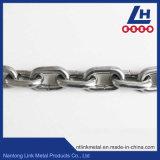 La norma DIN766 Cadena de eslabones de acero inoxidable