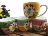 Kop van de Soep van het overdrukplaatje de Ceramische in de Fabriek van China met Goede Kwaliteit