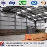 Entrepôt de structure métallique avec les étages et la salle d'entreposage multi
