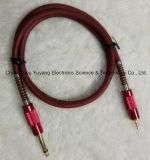6.35 Mono штепсельная вилка к кабелю аппаратуры 3.5 стерео AV/Music